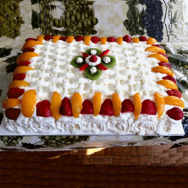 Rectangular Strawberry Cake